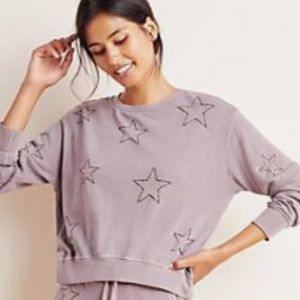 NWT Anthropologie Sundry Stitched Star Pullover